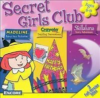 Secret Girls Club [Madeline, Crayola, Stellaluna] (2 PC CD-Rom Set, 2001 Encore)