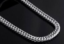 """20"""" 3mm Stainless Steel Curb Chain Necklace Silver Tone for Pendant 3 mm STCR3S"""