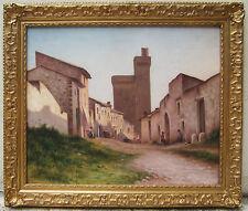 RAYMOND GUERCI PEINTRE ALBI TABLEAU PAYSAGE VILLENEUVE LES AVIGNON PAINTING ART