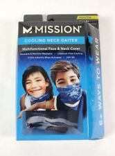 Mission Cooling Neck Gaiter, Youth One Size, Blue Camo