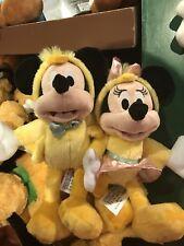 Disney Parks Mickey & Minnie EASTER CHICKENS PLUSH NWT 2018