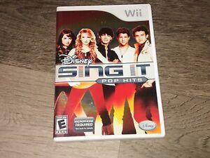 Disney Sing It Pop Hits Nintendo Wii Complete CIB Authentic