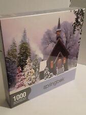 Christmas Noel d'antan 1000 Piece Jigsaw Puzzle Springbok Church Snow Winter NEW