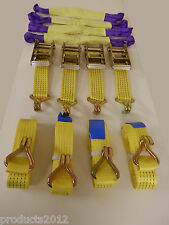 Professional Ratchet Recovery Straps Hi-vis Colour Trailer Tie Down Alloy Wheel