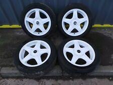 BMW MINI R103 ALLOY WHEEL SET - 5 STAR BLASTER - WHITE 4X100