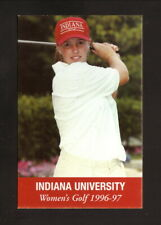 Indiana Hoosiers--1996-97 Golf Schedule--Varsity Club