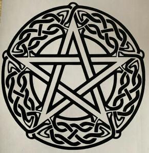 1x Pentagram Wiccan Pagan Rune Car Van Vinyl Sticker Decal Graphic 5.5in