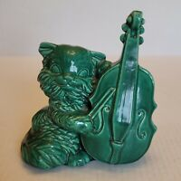 "Rare Vintage Cat And The Fiddle Art Pottery Planter 6"" Tall 6"" Wide McCoy?"