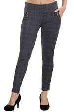 Women Casual Plus Size Sexy Hight Waist Fleece Lined Pencil Pants Leggings