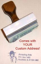 Blues Singer Rubber Stamp With Your Custom Address