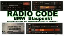 Radio Code - BMW Blaupunkt Bavaria C Reverse RDS Business CD Electronic KEY CODE