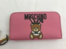 SS18 MOSCHINO Couture Jeremy Scott Teddy Bear Playboy Bunny WALLET Pink Bag