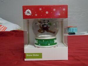 Disney Parks Mickey Minnie Mouse Christmas Dashing through The Snow Globe New