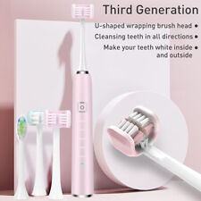 3D Wrapped Triple Head Sonic Electric Toothbrush IPX7 Waterproof Rechargeable