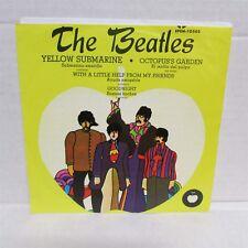 """THE BEATLES Yellow Submarine + 3 1971 7"""" Vinyl EP Import MEXICO"""