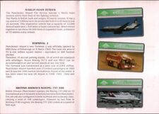 British Phonecards set of 3 BT Telephone cards + brochure Manchester Airport