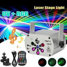 Muster Laser Projektor RGB UV LED DJ Bühnenbeleuchtung Party Disco Bühnenlicht