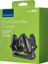 Insignia Dual-Controller Charger for Xbox 360 2 Batteries Included