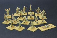 1/72 scale well painted AIRFIX AFRIKA KORPS 17 figures