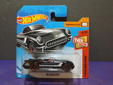 2018 Hot Wheels '55 CORVETTE, HW THEN & NOW Series 3/10. Short card.