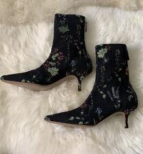 Altuzarra Elliot Stretch Floral Kitten Heel Booties !!BNWT!! $1295