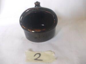 Vintage Stoneware Salt Cellar/Pig.                (2)