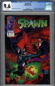 Spawn #1 CGC 9.6 NM+ 1st Appearance of Spawn (Al Simmons) WHITE PAGES
