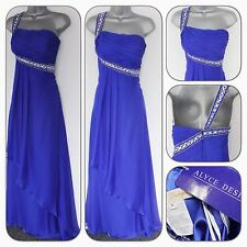 Bnwt ALYCE DESIGNS Embellie Soirée Prom bleu occasion robe longue 10/12
