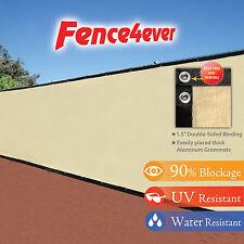 6'x50' 6ft Tan Beige Fence Screen Privacy Cover Mesh Windscreen Fabric w/zip