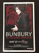 BUNBURY Mutaciones Tour Poster