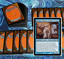 mtg BLUE ARTIFACT DECK Magic the Gathering rare cards Muzzio Visionary Architect