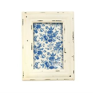 """White Vintage Style Photo Frame, Distressed Finish, 4 x 6"""". By Sass & Belle."""