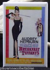 "Breakfast at Tiffany's Movie Poster 2"" x 3"" Fridge Magnet. Audrey Hepburn"