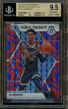 2019-20 Panini Mosaic Blue Reactive Prizm NBA Debut Ja Morant RC Rookie BGS 9.5