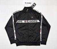 DOPE F1 Track Jacket Black White DO218-J315 Msrp $88 F