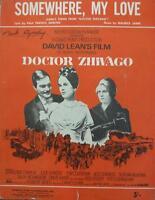 Vintage DOCTOR ZHIVAGO Film  Chaplin Christie words MUSIC SHEET David Lean 1965