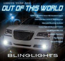 2011 2012 2013 2014 Chrysler 300 C S Xenon Halogen Fog Lamps Driving Lights Kit