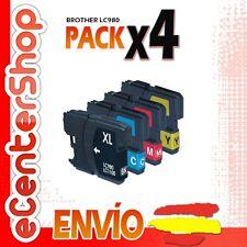 4 Cartuchos LC980 NON-OEM Brother MFC-290C / MFC290C 24H