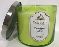 Eucalyptus Mint Bath & Body Works White Barn 3 Wick Candle 14.5 lemon sage
