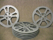Six- 1600ft 16mm Plastic Film Reels - New