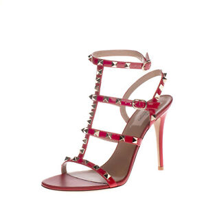 LEFT SHOE ONLY RRP €830 VALENTINO GARAVANI Leather Sandal EU 38.5 UK 5.5 US 8.5