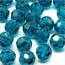 Packung 20 Perlen Mit Facetten 8mm aus Kristall Blau Grün