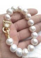 HOT HUGE AAA 12-13MM South Sea White Pearl Bracelet 7.5-8 Inch