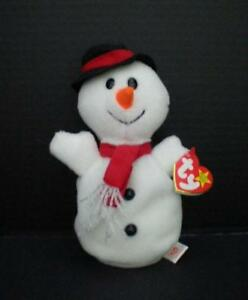 TY Beanie Babies Snowball Snowman Retired 1996 Original Beanbag Plush Toy