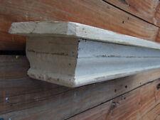 Distressed Farmhouse Mantle shelf, floating display shelf white