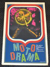 """1975 Original Cuban Movie Poster.Plakat.Affiche.affisch""""Motodrama""""Motorcross art"""