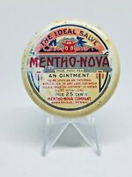 Vintage Medicine Tin: Mentho-Nova Salve, 25 cent Ointment, Years 1920's fully