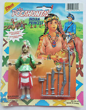 Vintage 1980's Pocahontas Indian Princess  with Weapons New Unopened