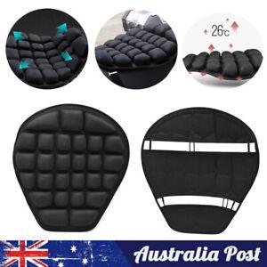 Universal Motorbike Sport Motorcycle Comfort Seat Air Cushion Pillow Cover Black