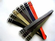 22mm Brown 1pc NATO G10 UTC SS HD Nylon military strap army watch band IW SUISSE